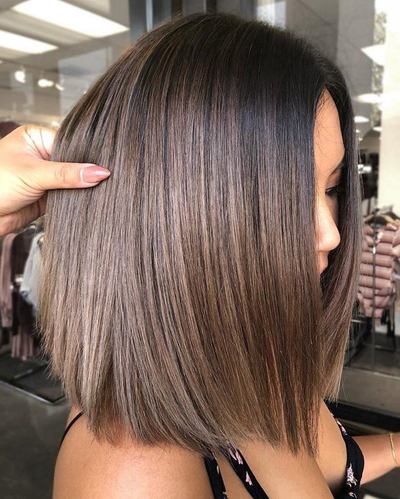 medium Balayage Hairstyles trends 2020 light brown straigh hair