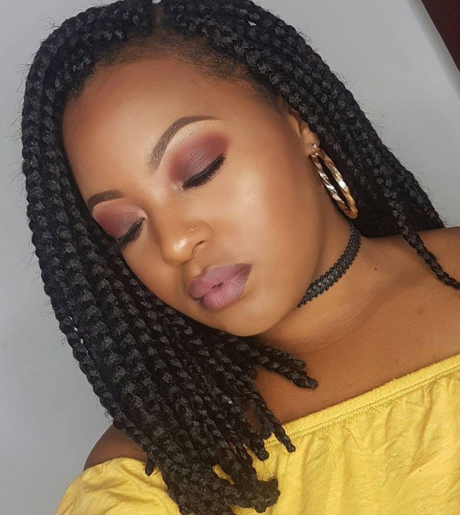 medium braided hairstyles trends 2020 black box braids