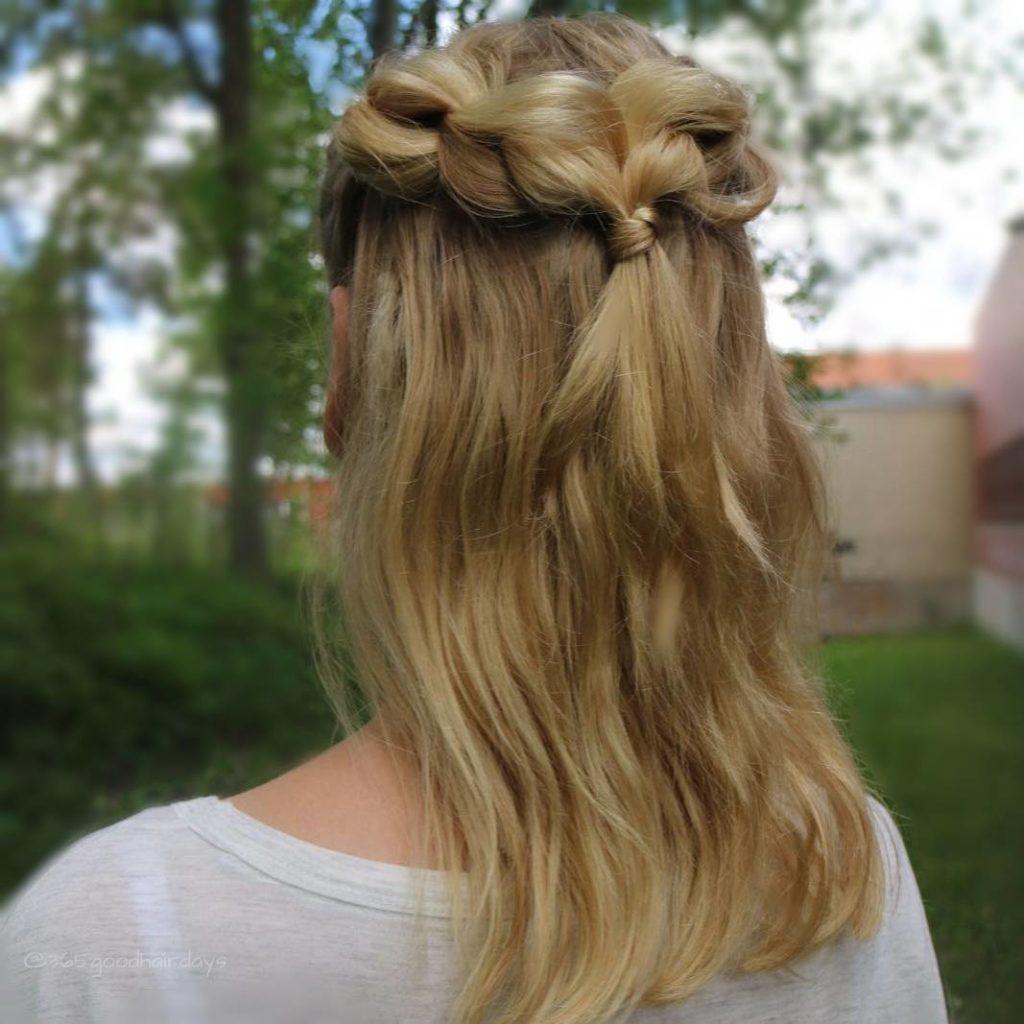 medium braided hairstyles trends 2020 mermaid waterfall braid