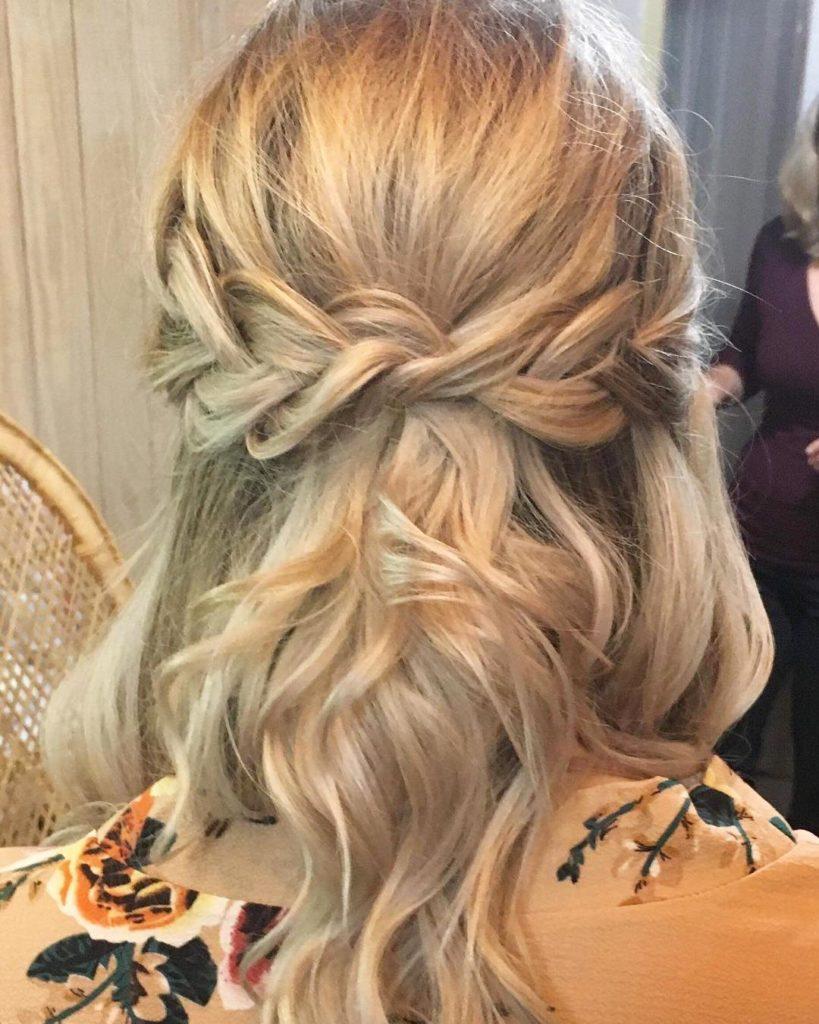 medium braided hairstyles trends 2020 waterfall blonde braid