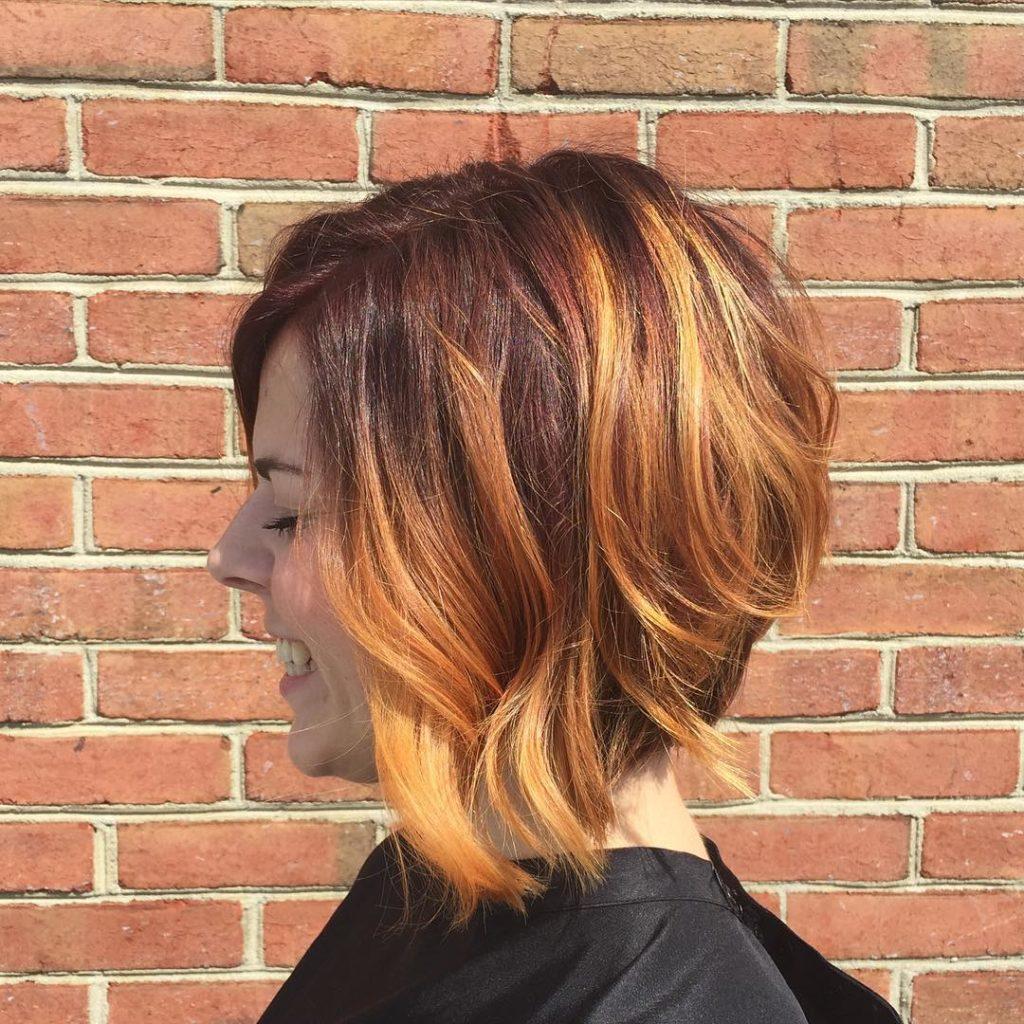 short Balayage Hairstyles trends 2020 caramel wavy