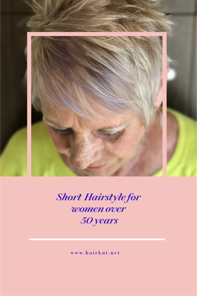 short hairstyle for women over 50 years