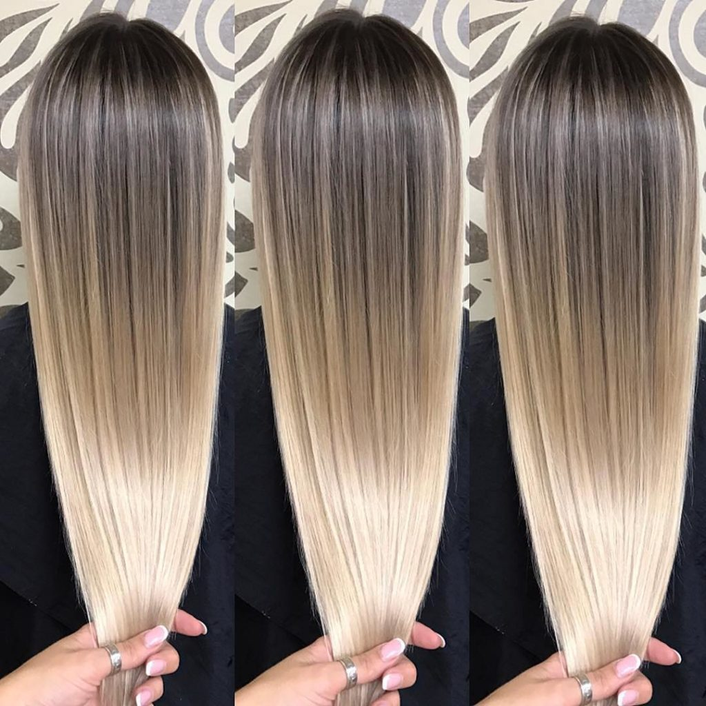 Long Highlights Hairstyles trends 2020 Blonde Gradient 1