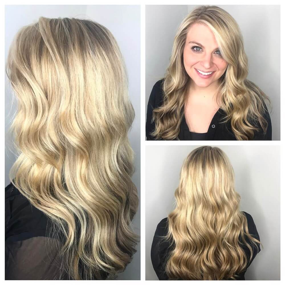 Long Highlights Hairstyles trends 2020 Blonde waves 1