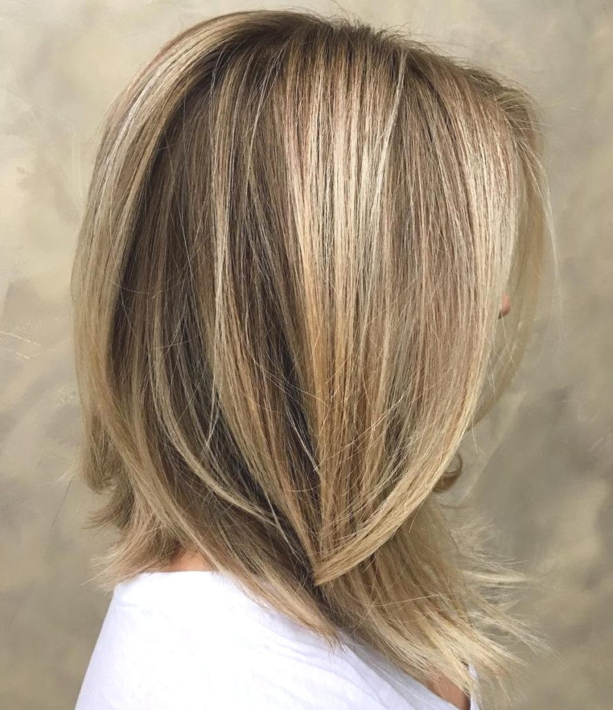 Long Highlights Hairstyles trends 2020 ash golden dirty blonde 1