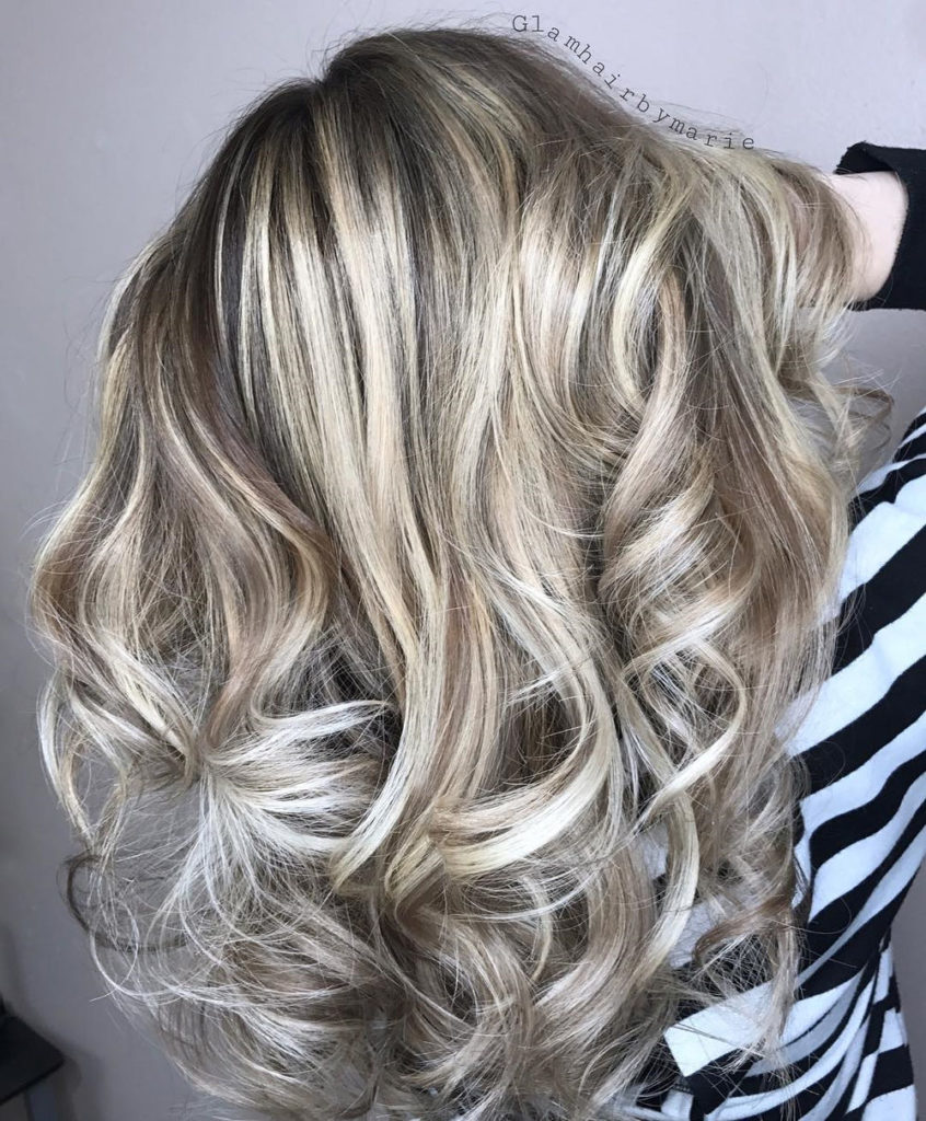 Long Highlights Hairstyles trends 2020 ash gray curls 1