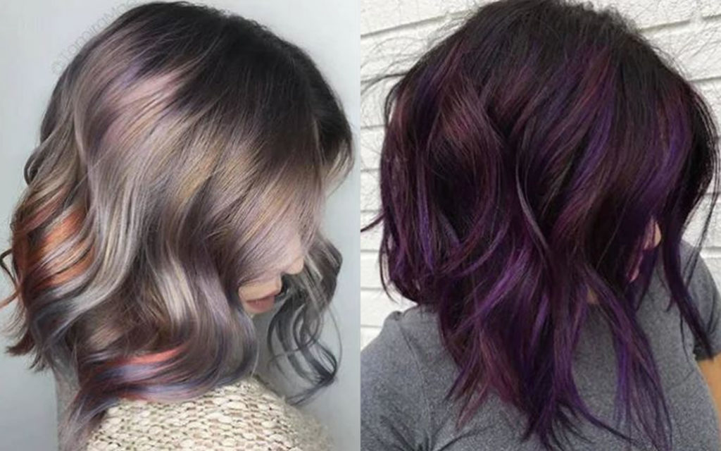 Long Highlights Hairstyles trends 2020 ash violet 1