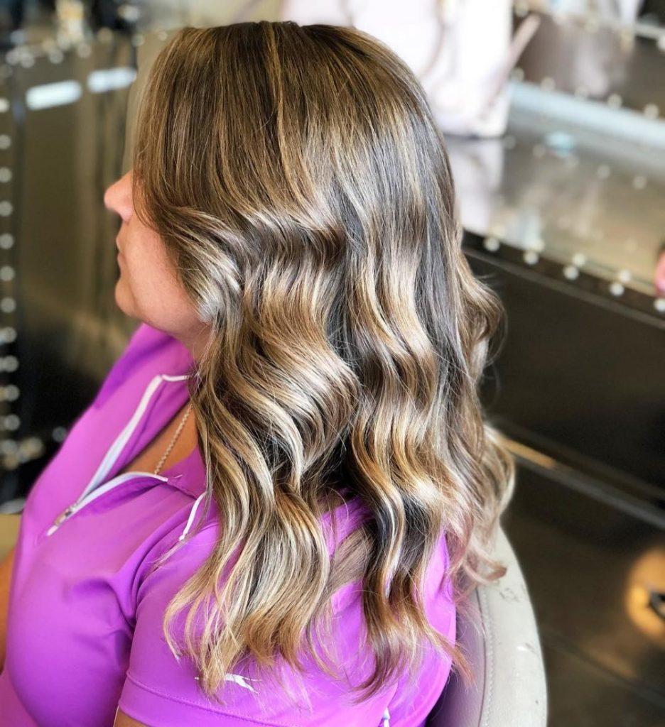 Long Highlights Hairstyles trends 2020 chestnut caramel blonde