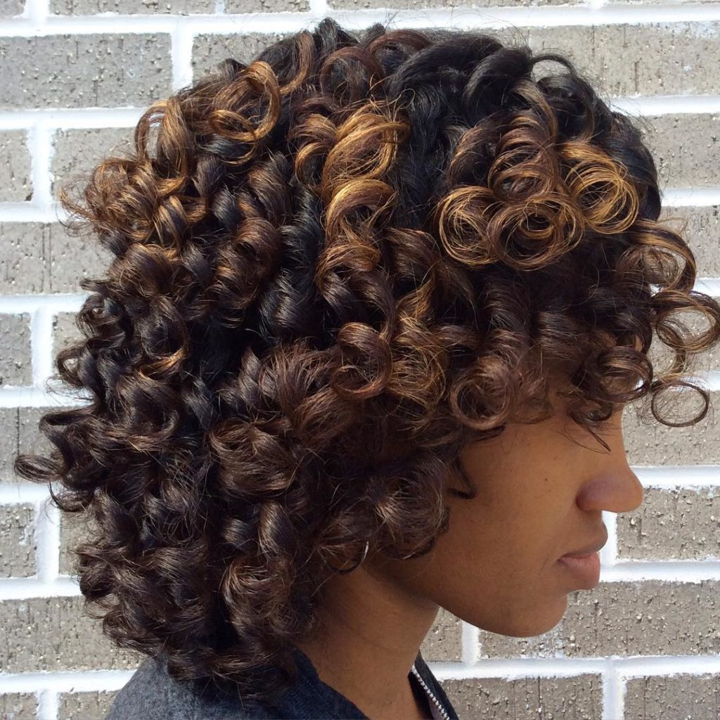Long Highlights Hairstyles trends 2020 curly 1