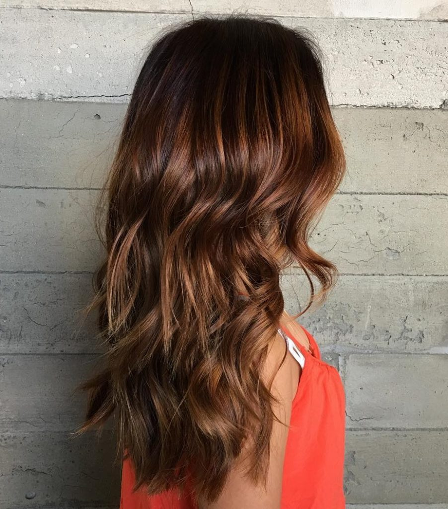 Long Highlights Hairstyles trends 2020 light bron