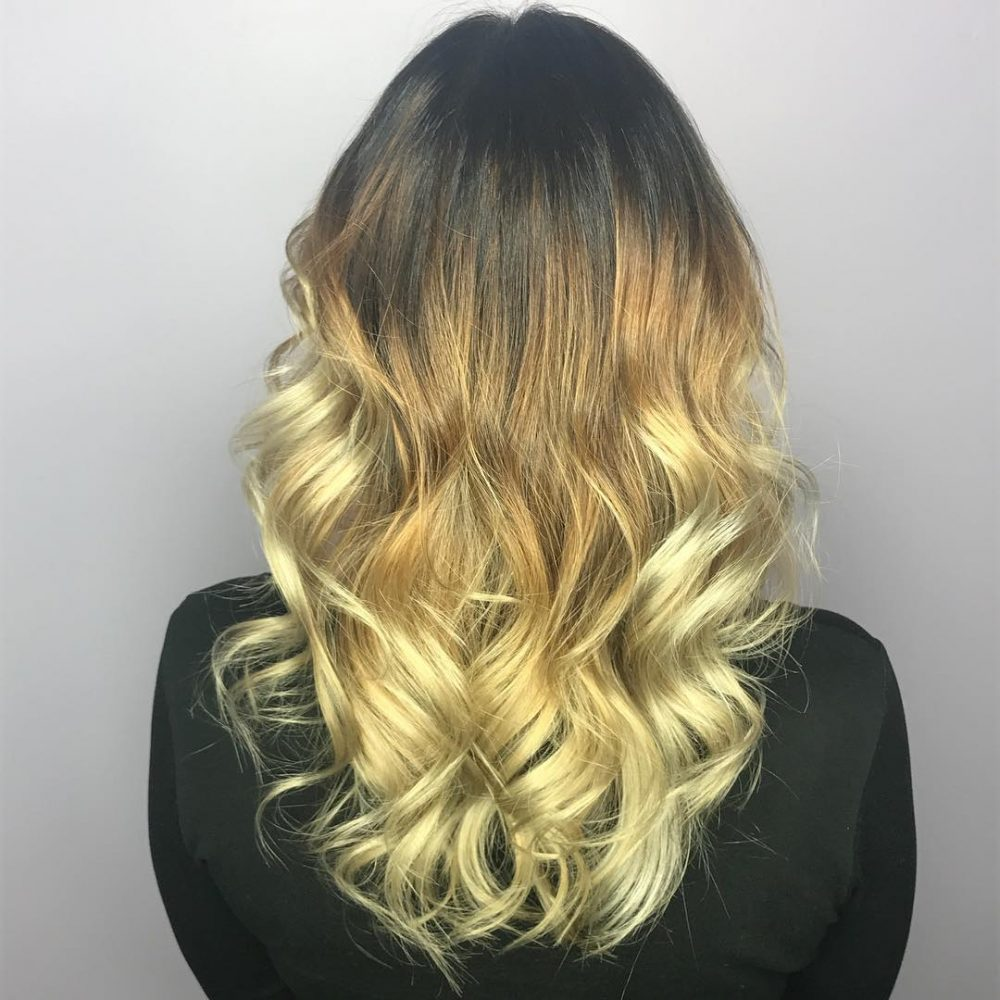 Long Ombre Hairstyles trends 2020 Dark to blonde 1