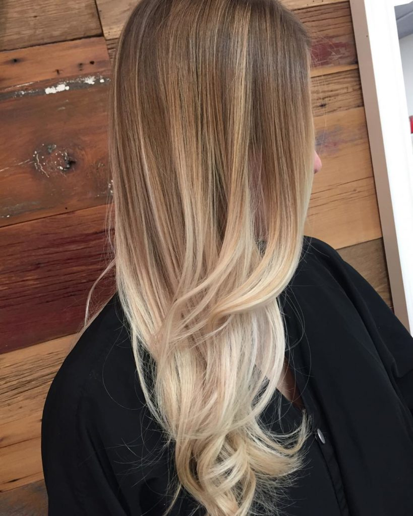 Long Ombre Hairstyles trends 2020 Blonde dye 1