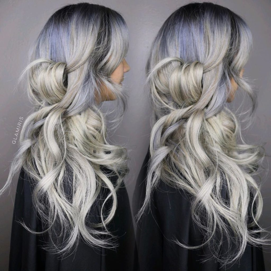 Long Ombre Hairstyles trends 2020 Gray highlights 1