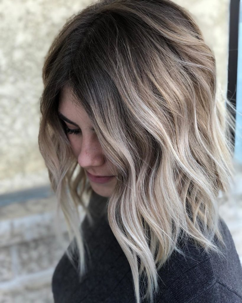 Long Ombre Hairstyles trends 2020 black and gray highlights 1