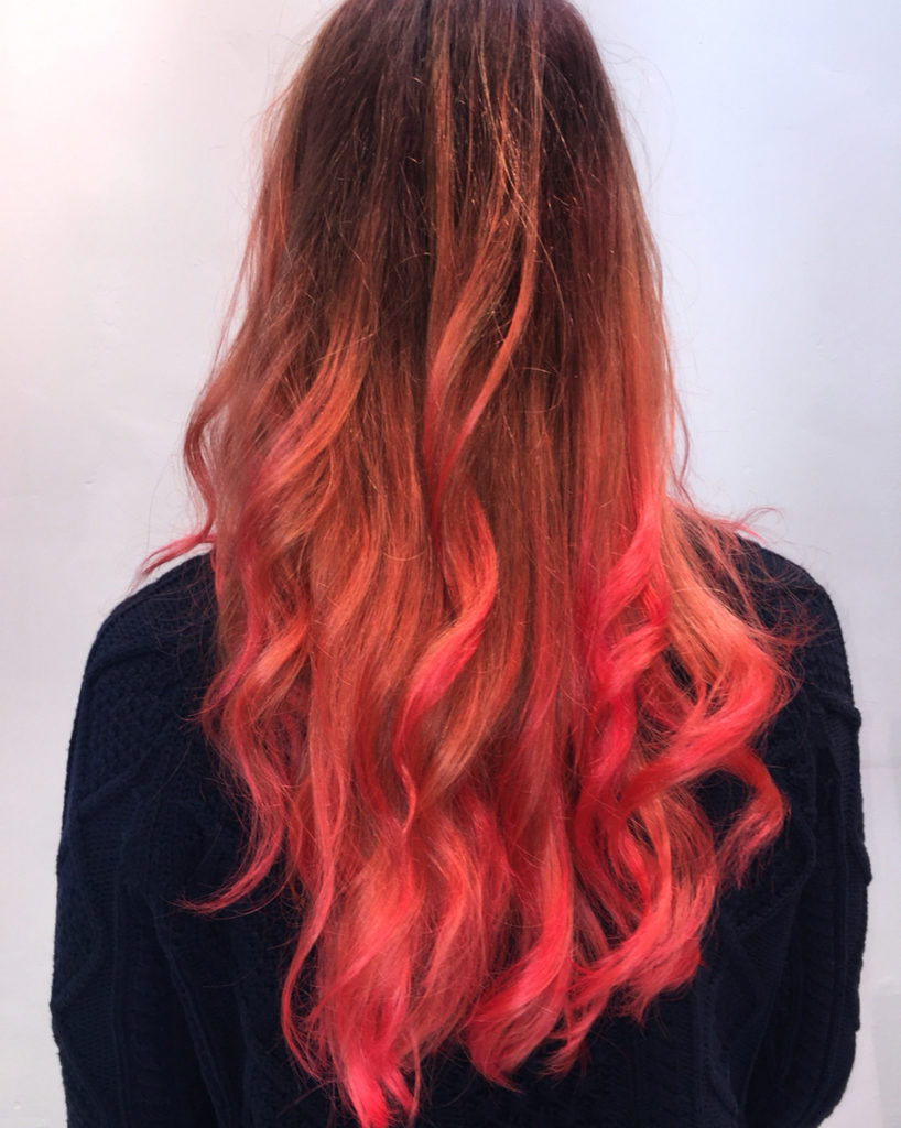 Long Ombre Hairstyles trends 2020 black to red