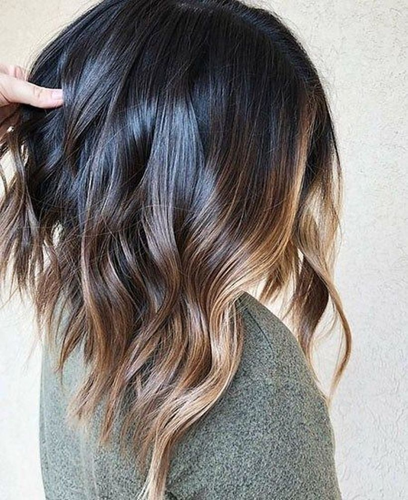 Long Ombre Hairstyles trends 2020 black to subtle blond 1