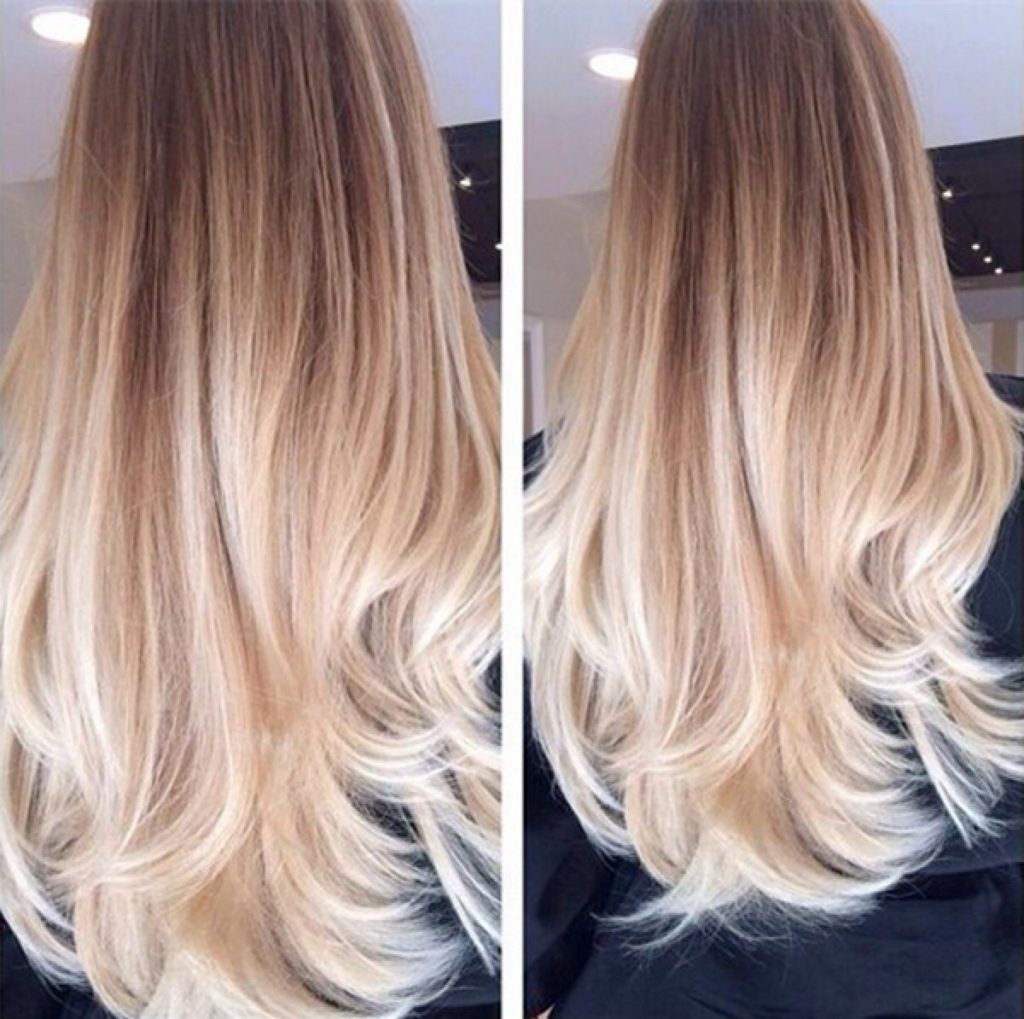 Long Ombre Hairstyles trends 2020 blonde platinum color 1