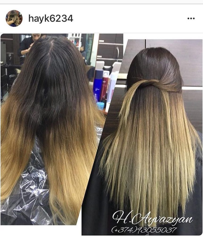 Long Ombre Hairstyles trends 2020 brown to blonde highlights 1