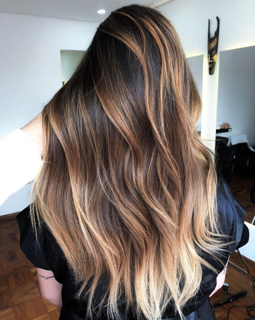 Long Ombre Hairstyles trends 2020 brown to soft blonde 1