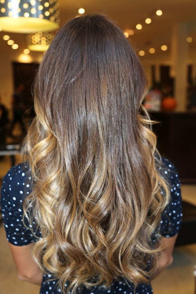 Long Ombre Hairstyles trends 2020 curly subtle blonde ombré 1