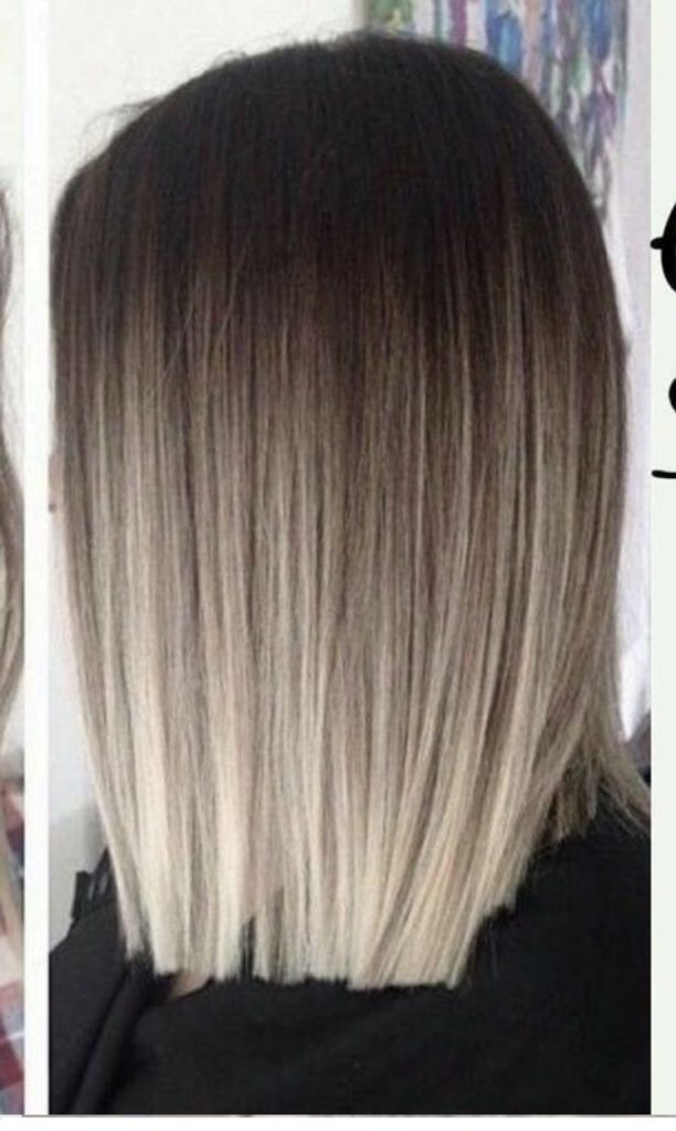 Long Ombre Hairstyles trends 2020 dark to gray 1