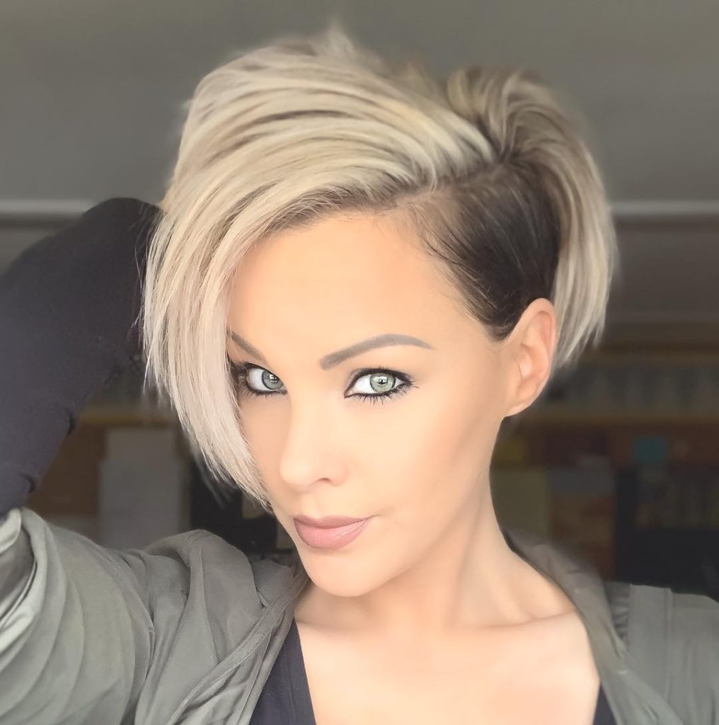 Long Pixie Haircuts trends 2020 black toGray Colors 1