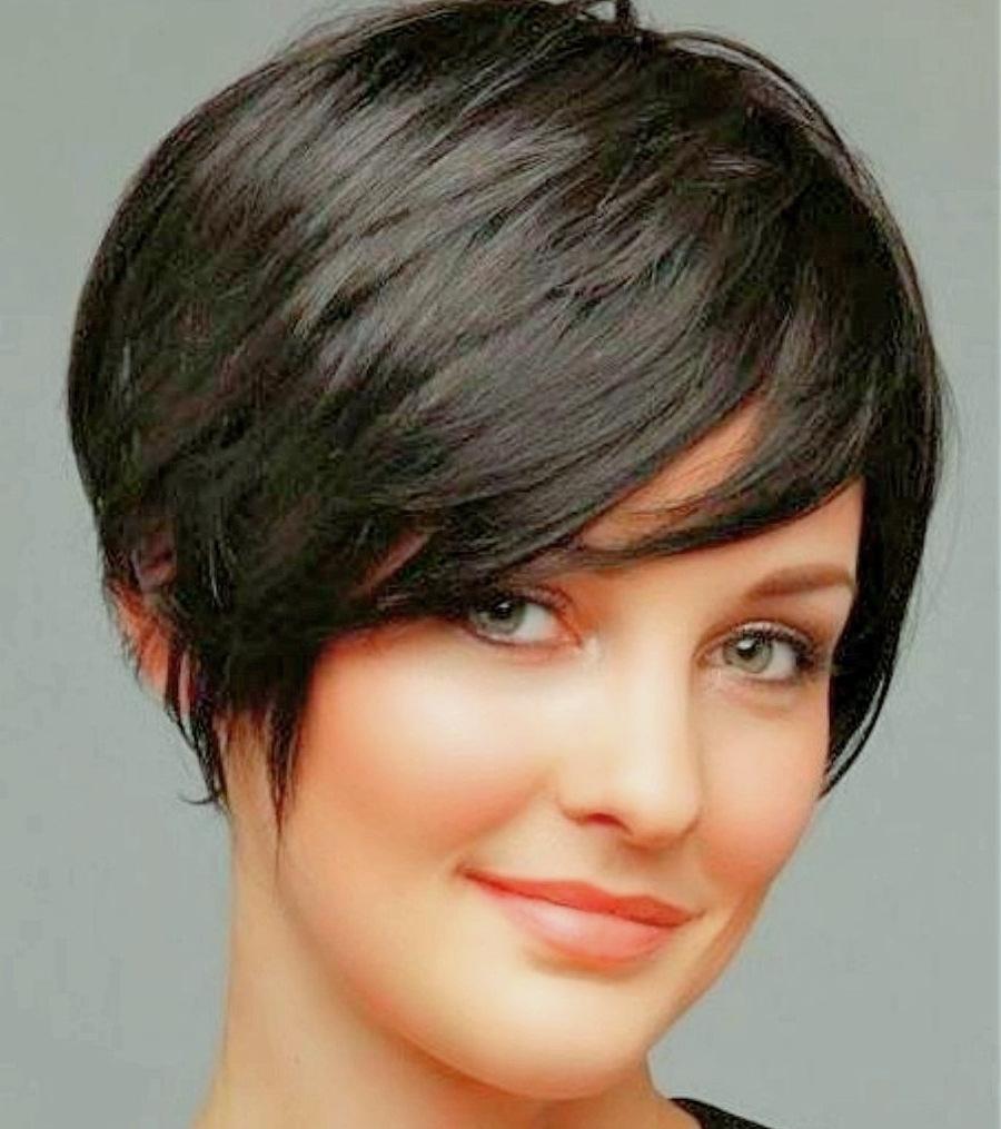 Long Pixie Haircuts trends 2020 Black color 1