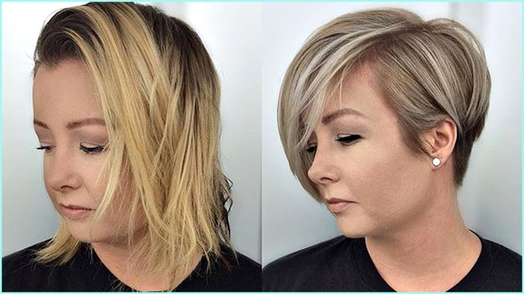Long Pixie Haircuts trends 2020 Blonde Gray Highlights 1