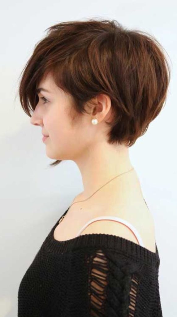 Long Pixie Haircuts trends 2020 Brown color