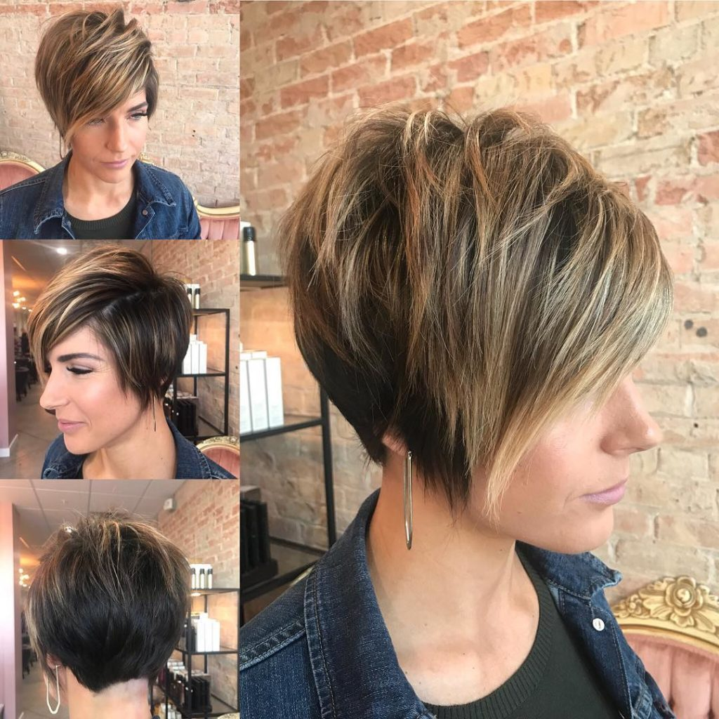Long Pixie Haircuts trends 2020 Caramel Blinde