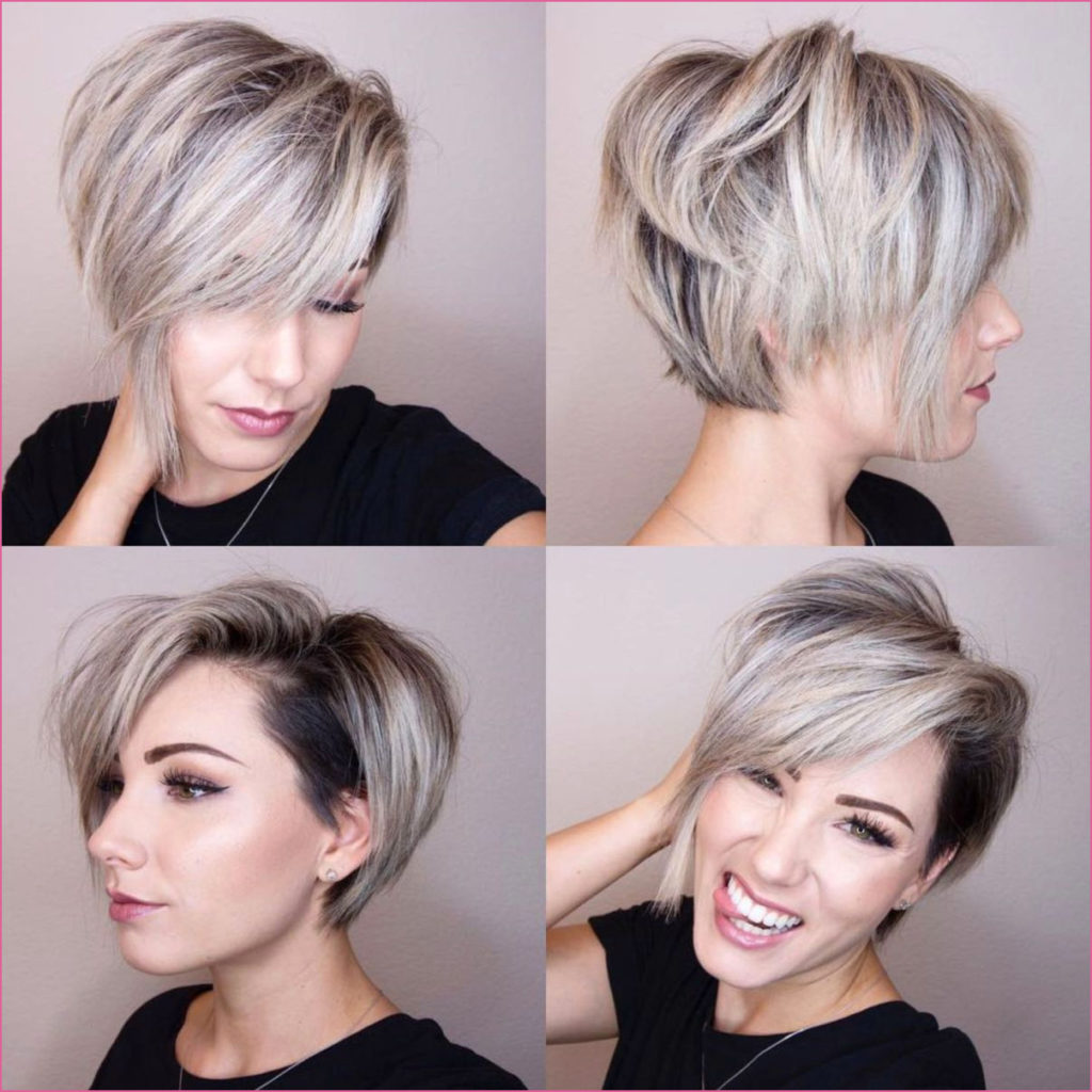 Long Pixie Haircuts trends 2020 Gray balayage 1