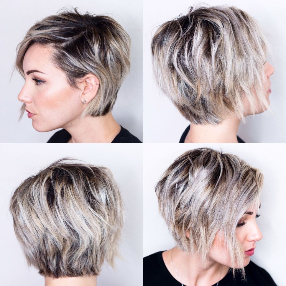 Long Pixie Haircuts trends 2020 Gray color highlights 2