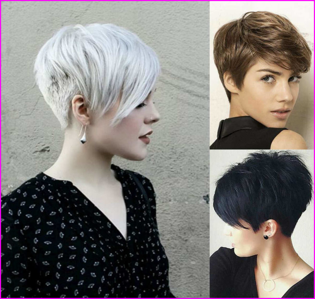 Long Pixie Haircuts trends 2020 White To black 3