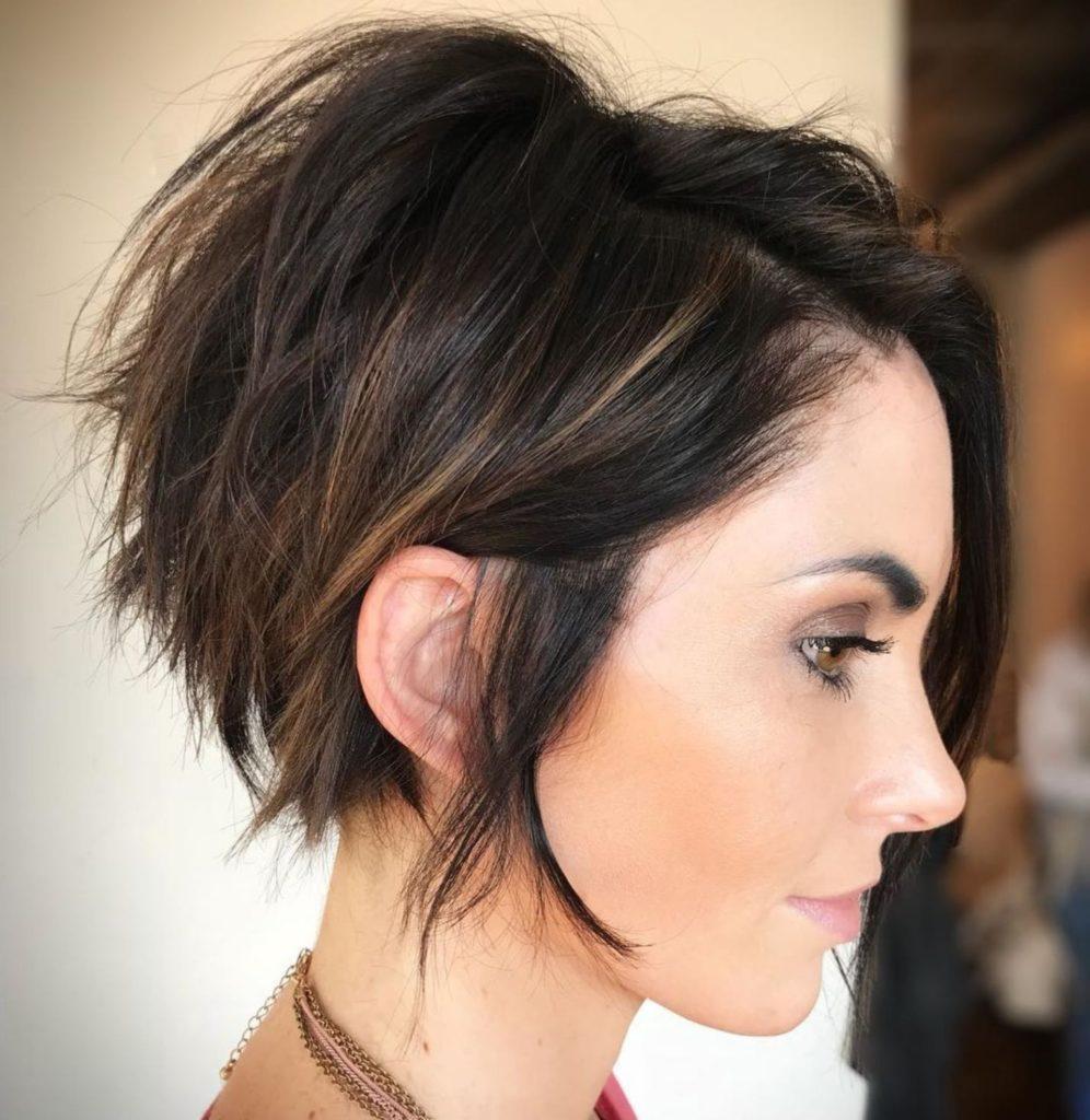 Long Pixie Haircuts trends 2020 brunette