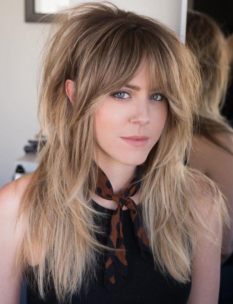 Long Shag Haircuts trends 2020 Blonde highlights