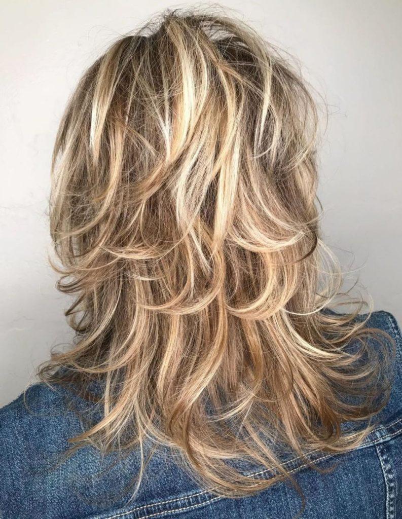 Long Shag Haircuts trends 2020 Platinum blonde highlights Choppy layers