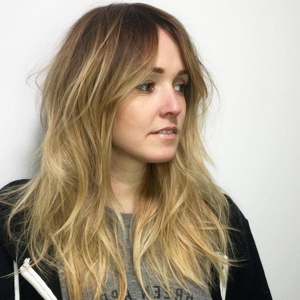 Long Shag Haircuts trends 2020 Platinum blonde