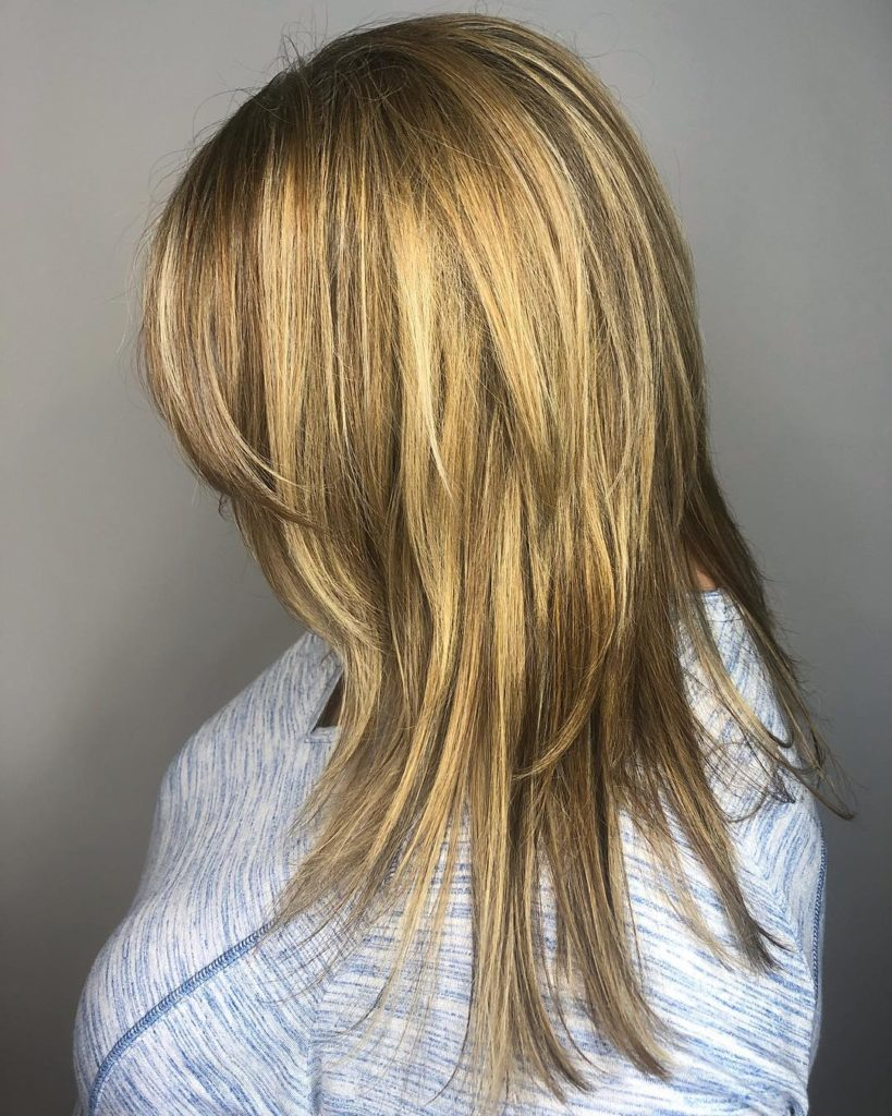 Long Shag Haircuts trends 2020 Subtle blonde highlights