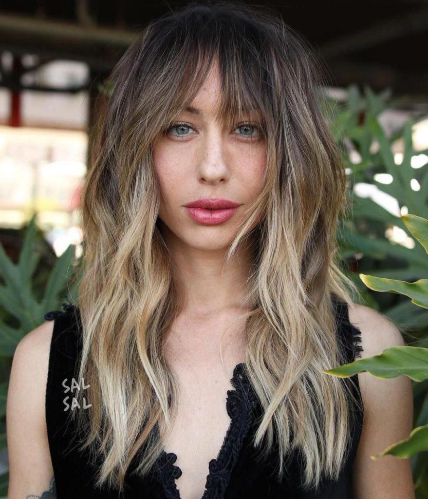 Long Shag Haircuts trends 2020 blonde Choppy layers highlights