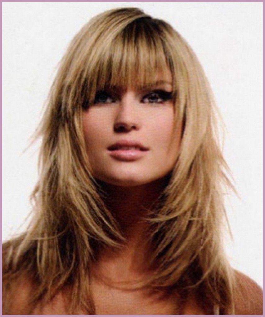 Long Shag Haircuts trends 2020 blonde Choppy layers with bang