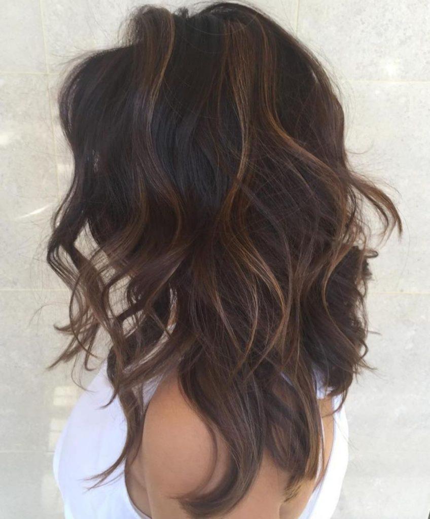Long Shag Haircuts trends 2020 brown hair Choppy layers