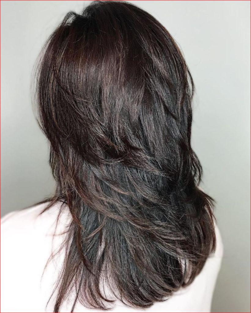 Long Shag Haircuts trends 2020 dark color