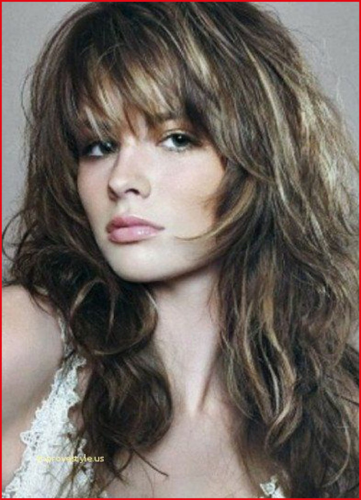Long Shag Haircuts trends 2020 messy brunette with blonde highlights