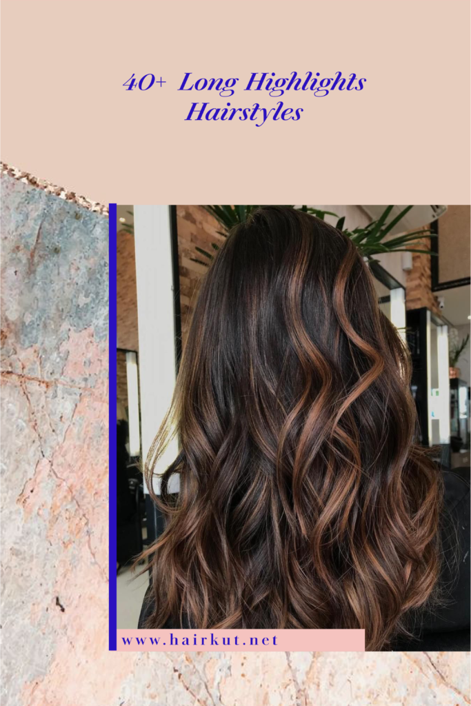 Long highlights hairstyle 2