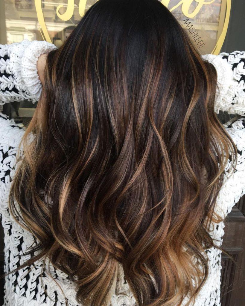 Medium Balayage Hairstyles trends 2020 Dark Chocolate brown