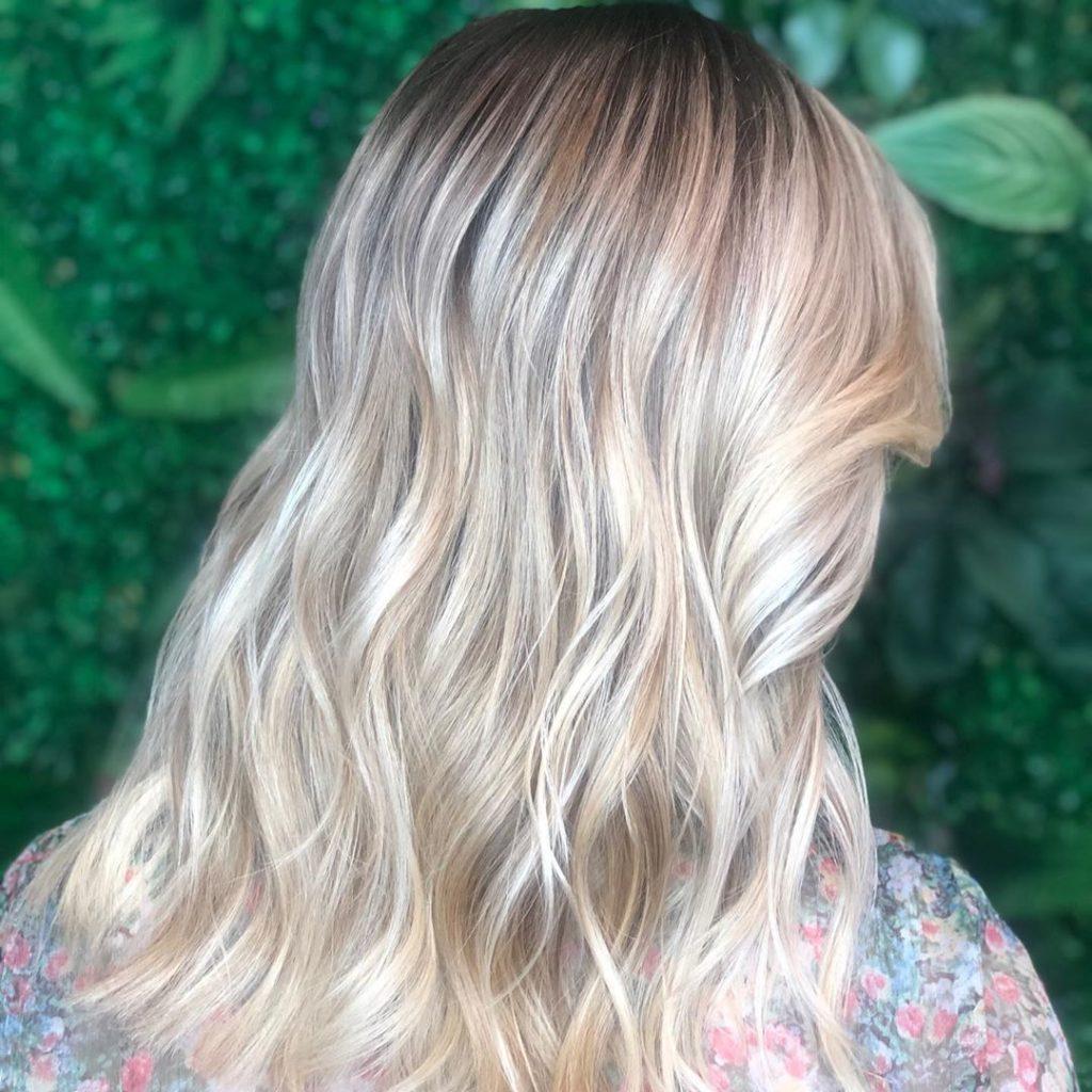 Medium Balayage Hairstyles trends 2020 ash gray wavy color