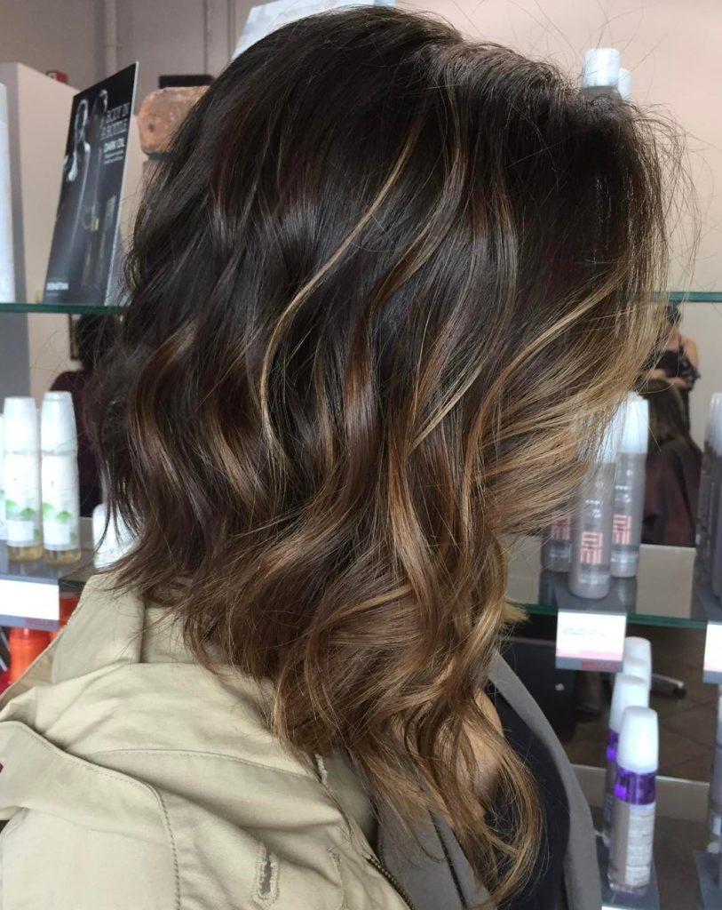 Medium Balayage Hairstyles trends 2020 brown blayage highlights