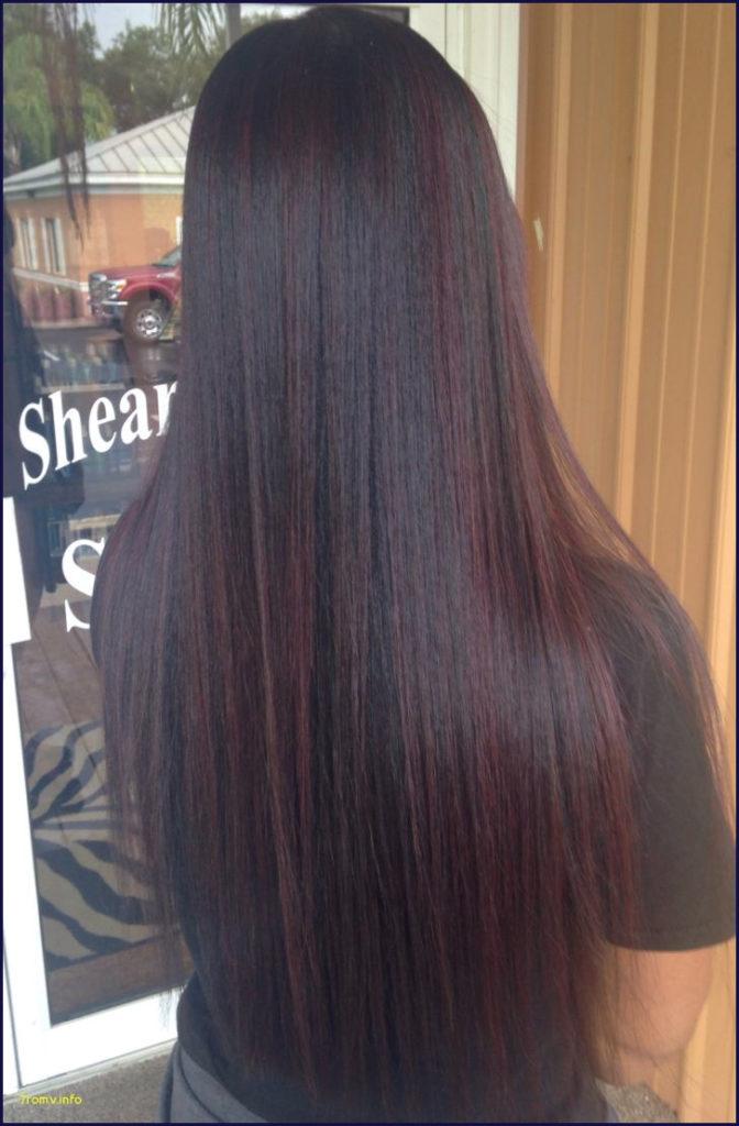 Medium Highlights Hairstyles trends 2020 burgundy purple micro highlights 3