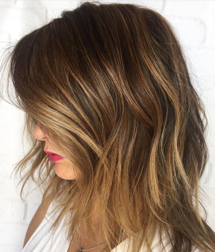 Medium Highlights Hairstyles trends 2020 chestnut blonde color 3