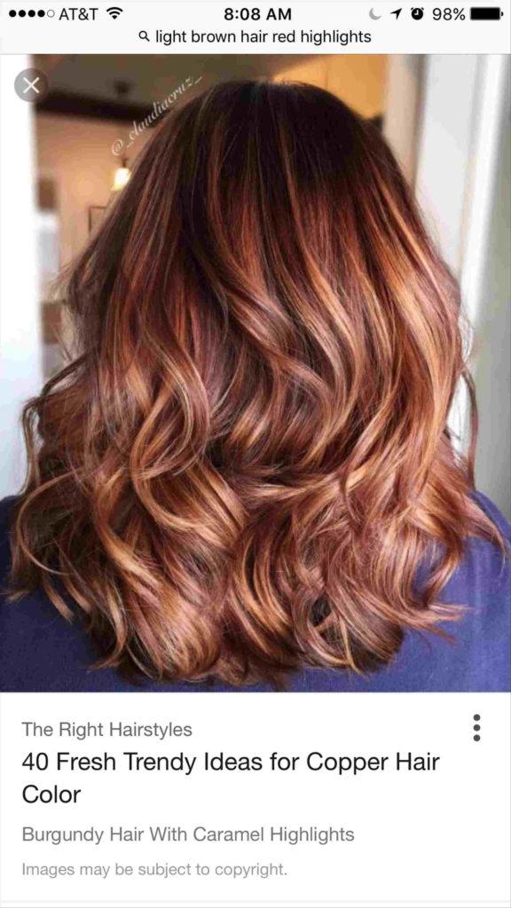 Medium Highlights Hairstyles trends 2020 chestnut brown highlights 3
